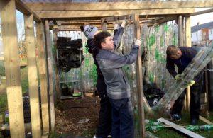 Ballark Trainint Centr building GAP Ireland's Recycled Plastic Bottle Greenhouse